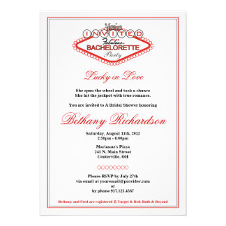 Invitación del fiesta del Los Vegas Bachelorette