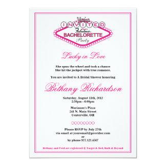 Invitación del fiesta del Los Vegas Bachelorette Invitación 12,7 X 17,8 Cm