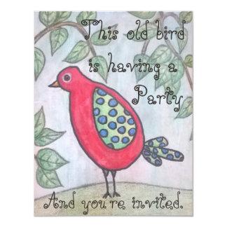 Invitación del fiesta del pájaro viejo