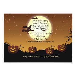 Invitación del fiesta del paseo de Halloween