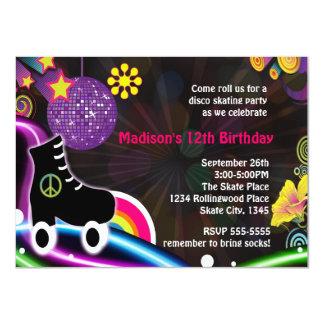 Invitación del fiesta del patín del patinaje sobre