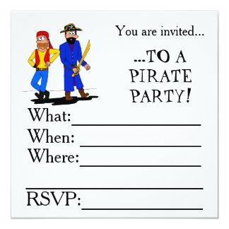 Invitación del fiesta del pirata