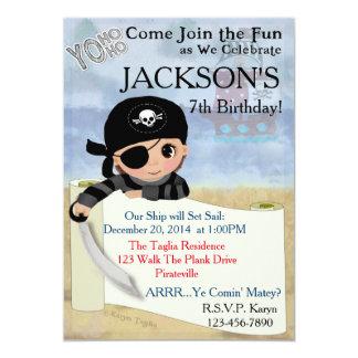 Invitación del fiesta del pirata de Yo Ho Ho Invitación 12,7 X 17,8 Cm