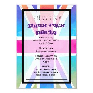 Invitación del fiesta del punk rock de la bandera