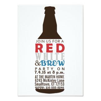 Invitación del fiesta del rojo, del blanco y del