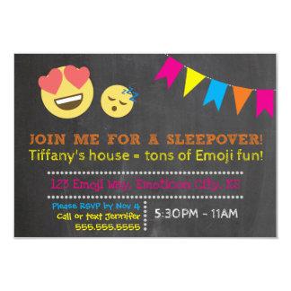 Invitación del fiesta del Sleepover de Emoji