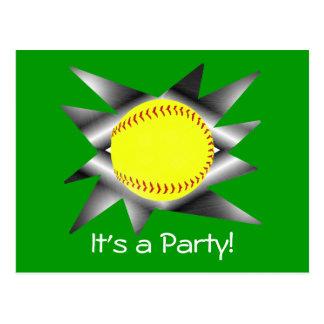 Invitación del fiesta del softball de Fastpitch
