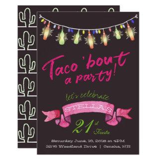 Invitación del fiesta del Taco