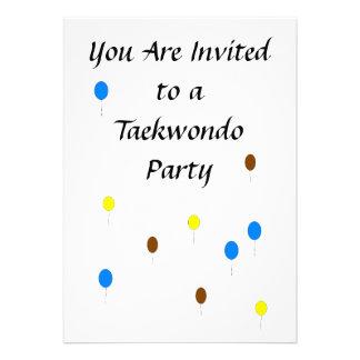 Invitación del fiesta del Taekwondo