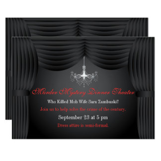 Invitación del fiesta del teatro de la cena del