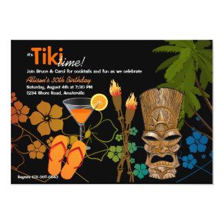 Invitación del fiesta del tiempo de Tiki Invitación 12,7 X 17,8 Cm