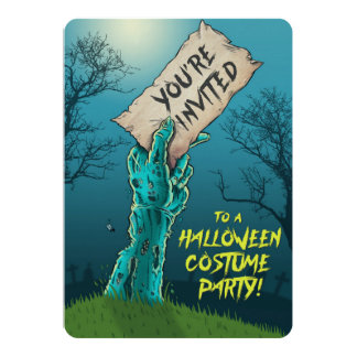 Invitación del fiesta del traje de Halloween del