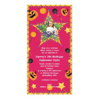 Invitación del fiesta del traje de Halloween del c Tarjetas Fotograficas