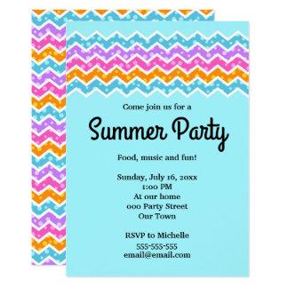 Invitación del fiesta del verano de los lunares de