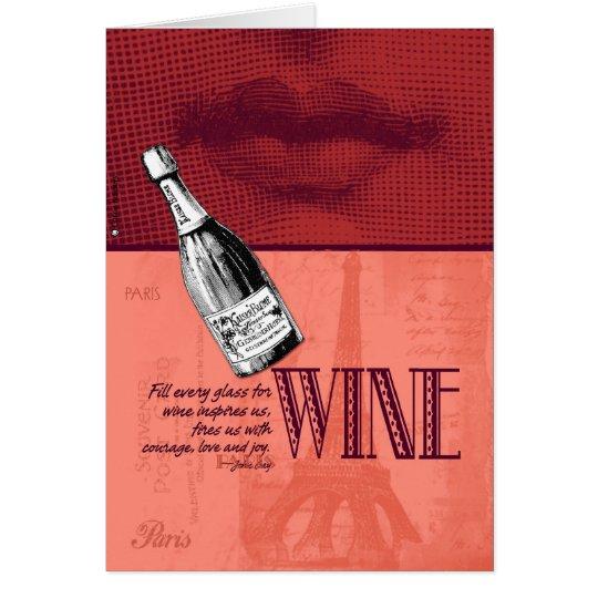 Invitación del fiesta del vino