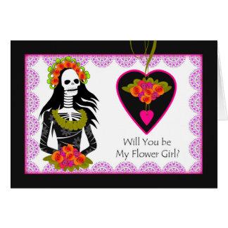 Invitación del florista, Dia de los Muertos Tarjeta De Felicitación