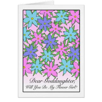 Invitación del florista para la ahijada, pasteles tarjeta de felicitación