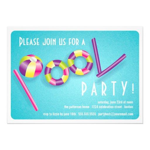 Invitación del flotador de la piscina de la fiesta