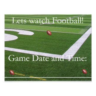 ¡Invitación del fútbol de la fecha del juego!