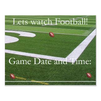 ¡Invitación del fútbol de la fecha del juego! Invitación 10,8 X 13,9 Cm