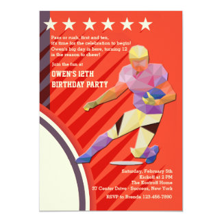 Invitación del futbolista de la estrella