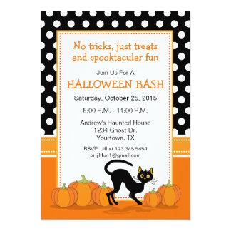 Invitación del gato negro y del fiesta de