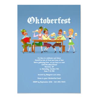 Invitación del golpe de Oktoberfest