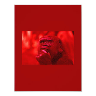 Invitación del gorila - invitaciones chistosas de invitación 10,8 x 13,9 cm