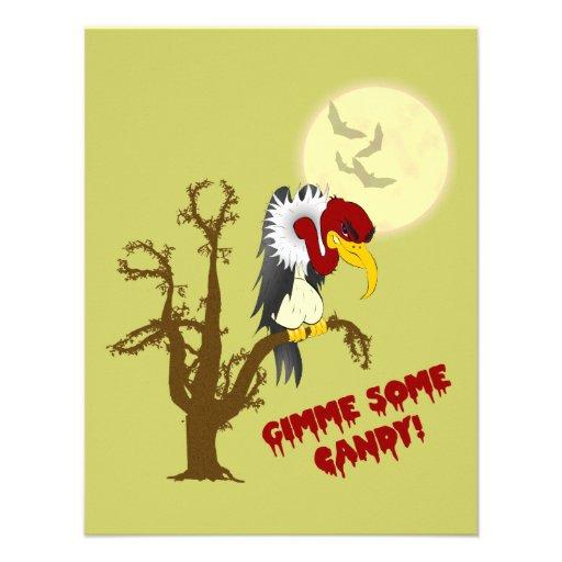 Invitación del halcón de Halloween