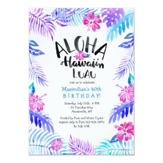 Invitación del Hawaiian de la hawaiana