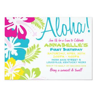 Invitación del Hawaiian de Luau del verano