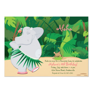 Invitación del hipopótamo del baile