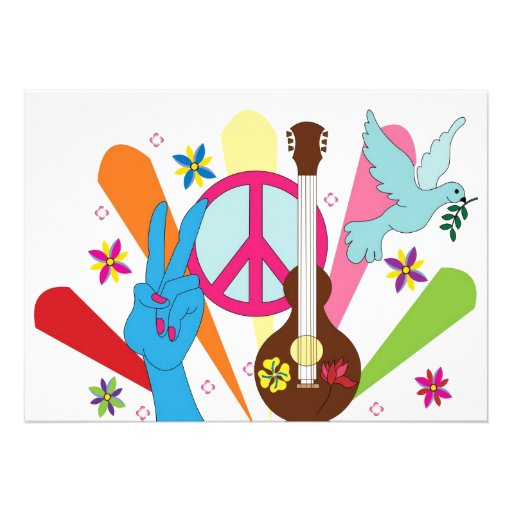 invitación del hippie