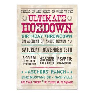 Invitación del Hoedown