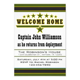 Invitación del hogar de la recepción del soldado