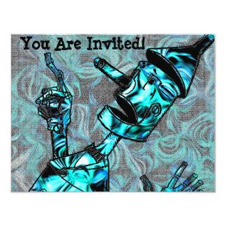 Invitación del hombre de la lata del Aquamarine