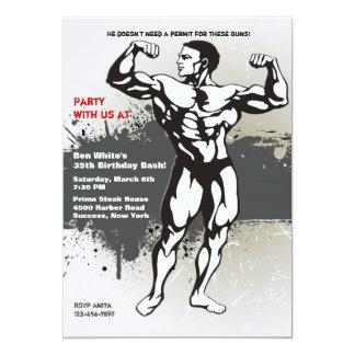 Invitación del hombre del músculo