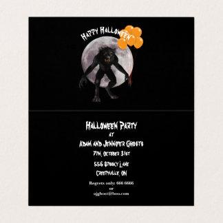 Invitación del hombre lobo de Halloween