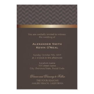 Invitación del ı del boda de dos Novio-Gays