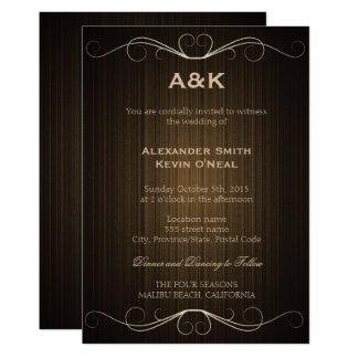 Invitación del ı del boda del país de dos