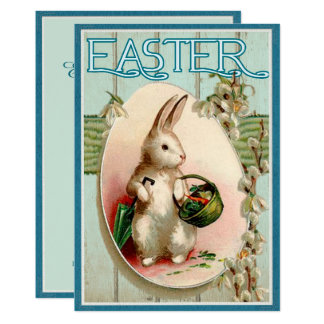 Invitación del ilustracion del conejito de pascua