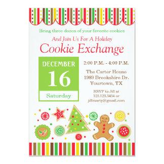 Invitación del intercambio de la galleta del día