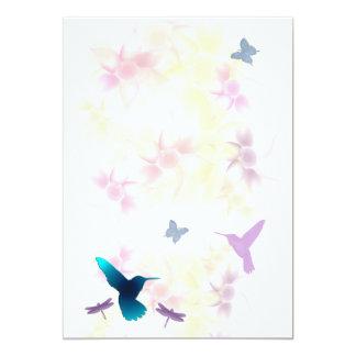 Invitación del jardín del colibrí para el arreglo