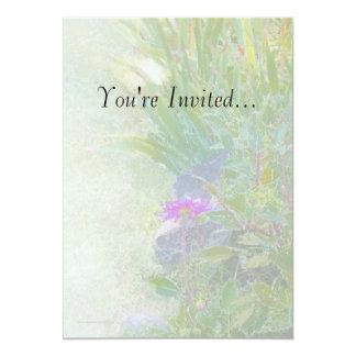 Invitación del jardín del verano del rezo de la