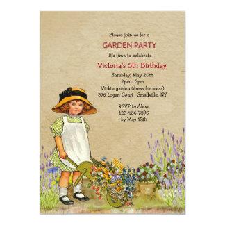 Invitación del jardinero del vintage