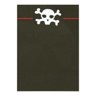 Invitación del jefe de la bandera pirata del invitación 12,7 x 17,8 cm