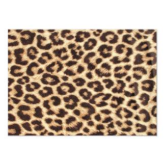 Invitación del leopardo/del estampado de animales