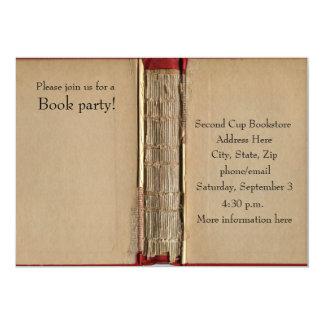 Invitación del libro viejo