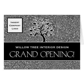 Invitación del logotipo del negocio de la gran tarjeta de felicitación