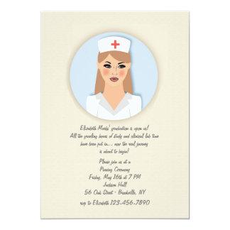 Invitación del medallón de la enfermera
